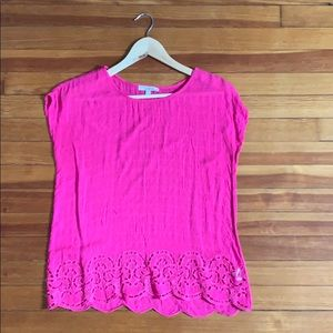 Light weight pink rayon top